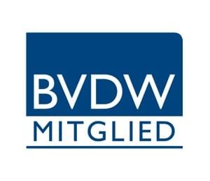 BVDW Mitglied Logo in blau-weiß 123Consulting Mitglied BVDW