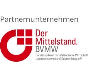 Partnerunternehmen Der Mittelstand BVMW Logo in grau und rot