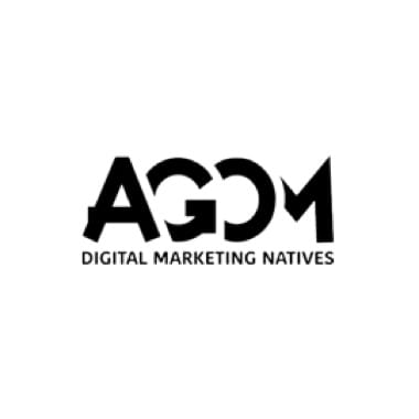 AGOM Logo schwarz mit Schriftzug Digital Marketing Natives