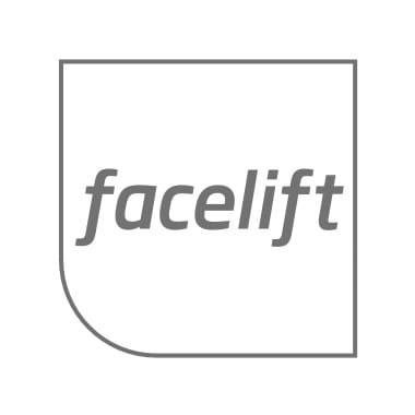 Facelift logo grau mit grauem Rahmen