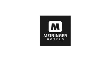 Meininger Hotels Logo in schwarz weiß Partner 123Consulting