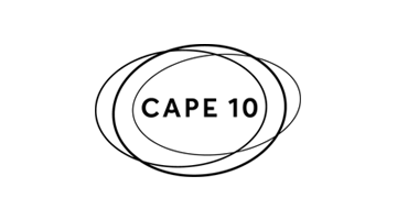 Cape 10 Logo in schwarz