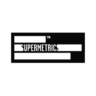 Supermetrics Logo schwarz-weiß
