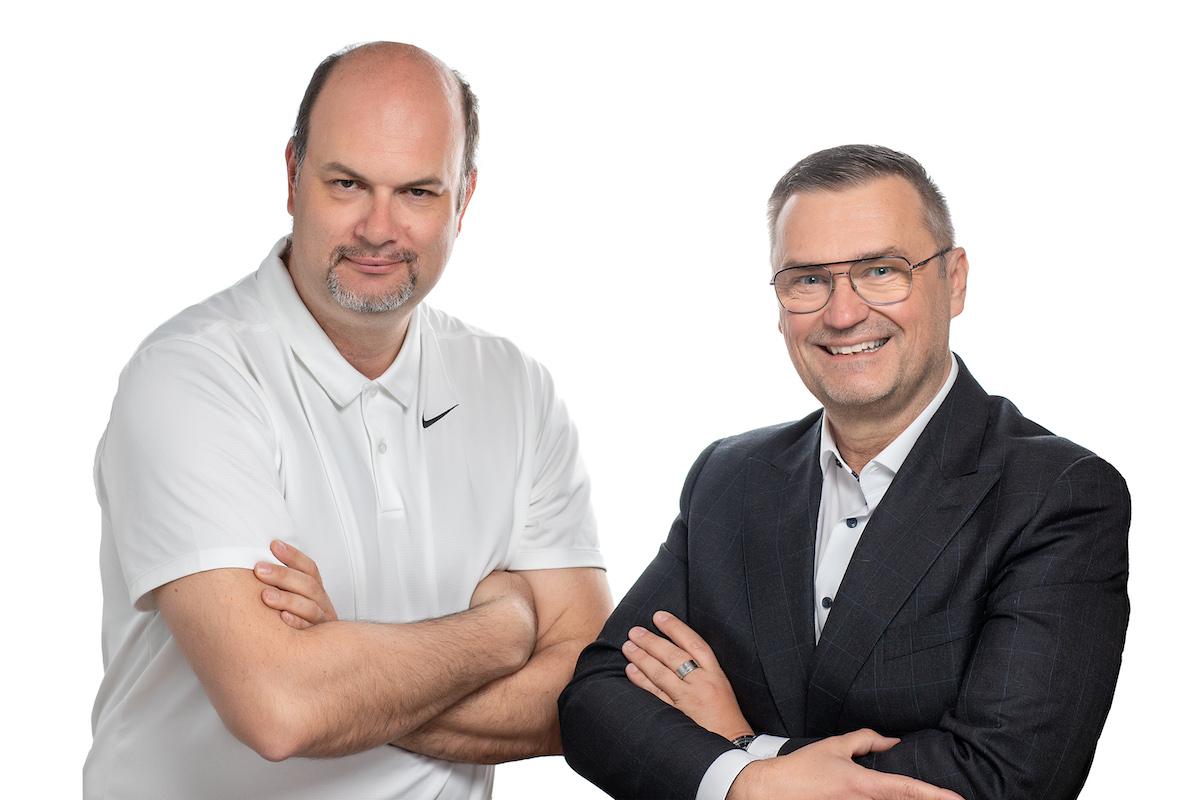 Harald Grabner und Thomas Apollonio mit Freude an der Arbeit